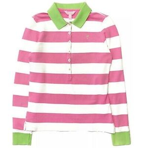 Lilly Pulitzer Rugby Striped Long Sleeve Polo NWOT